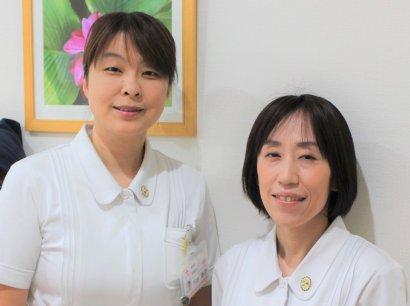 がん化学療法看護認定看護師 (左)戸井 恭子 (右)岸下 礼子
